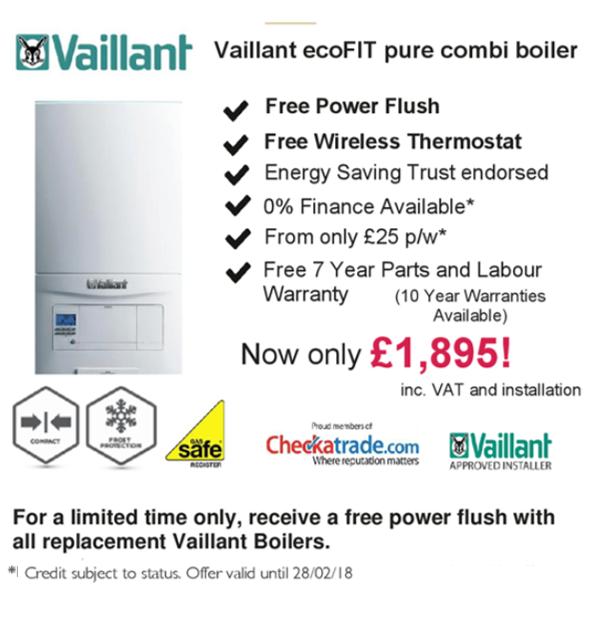 vaillant ideal boiler install boiler installation